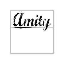 "Amity, Vintage Square Sticker 3"" x 3"""