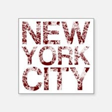 "New York City, Aged Red, Square Sticker 3"" x 3"""