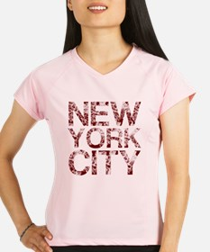 New York City, Aged Red, Performance Dry T-Shirt
