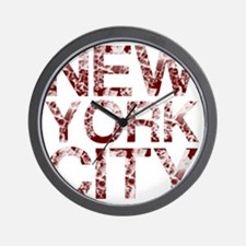 New York City, Aged Red, Wall Clock