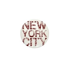 New York City, Aged Red, Mini Button