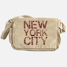 New York City, Aged Red, Messenger Bag