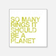 "Pittsburgh PLANET, vintage, Square Sticker 3"" x 3"""