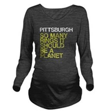 Pittsburgh PLANET, v Long Sleeve Maternity T-Shirt