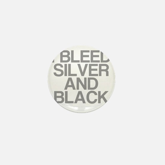 I Bleed Silver and Black Mini Button