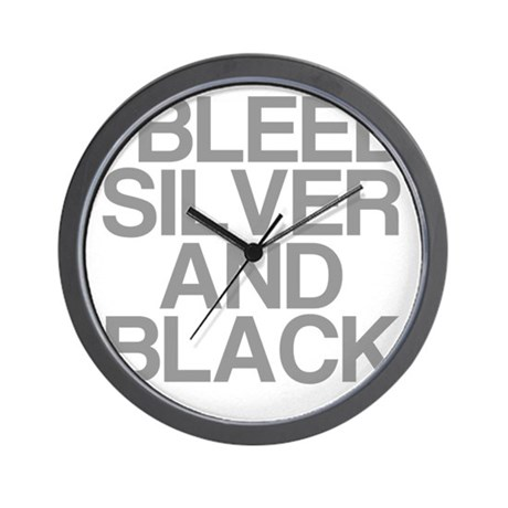 I Bleed Silver and Black Wall Clock