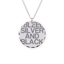 I Bleed Silver and Black Necklace