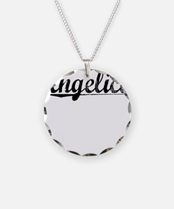 Angelica, Vintage Necklace Circle Charm
