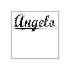 "Angelo, Vintage Square Sticker 3"" x 3"""