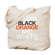 I Bleed Black and Orange Tote Bag