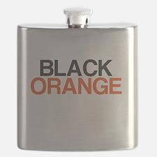 I Bleed Black and Orange Flask