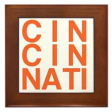 CINCINATI, Typography Framed Tile