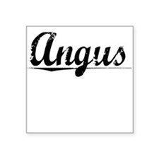 "Angus, Vintage Square Sticker 3"" x 3"""