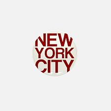 NEW YORK CITY, Maroon, Mini Button