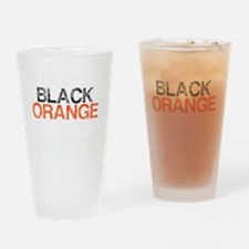 I Bleed Black and Orange, Aged, Drinking Glass