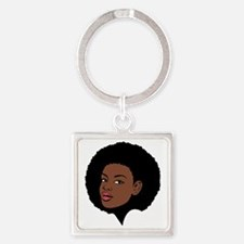 Afro Square Keychain