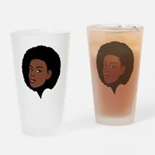 Afro Drinking Glass