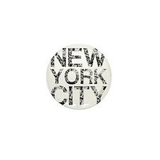 New York City, Worn, Mini Button