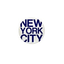 NEW YORK CITY, Blue, Mini Button