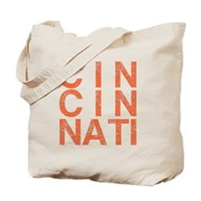 CINCINATI, Typography, Aged, Tote Bag