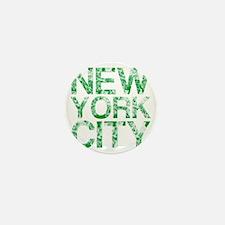 New York City, Green, Mini Button