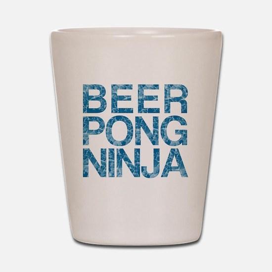 Beer Pong Ninja, Blue, Shot Glass