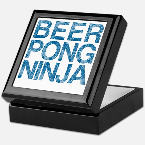 Beer Pong Ninja, Blue, Keepsake Box