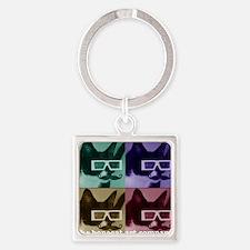 Bonecat Square Keychain