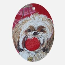 Journal Lhasa Apso Oval Ornament