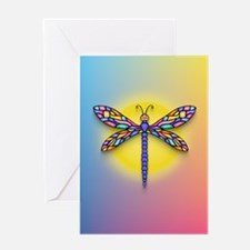 Dragonfly1 - Sun Greeting Card