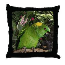 Yellow Nape Amazon Parrot Throw Pillow