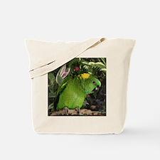 Yellow Nape Amazon Parrot Tote Bag
