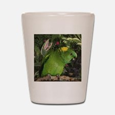 Yellow Nape Amazon Parrot Shot Glass