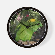 Yellow Nape Amazon Parrot Wall Clock