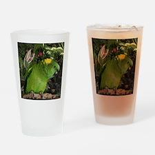 Yellow Nape Amazon Parrot Drinking Glass