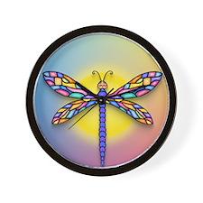 Dragonfly1 - Sun Wall Clock