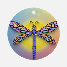 Dragonfly1 - Sun Round Ornament