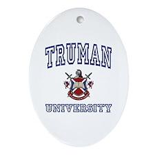 TRUMAN University Oval Ornament