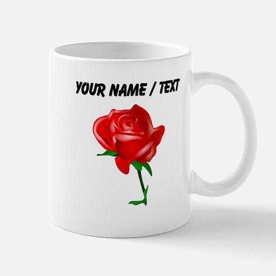 Custom Red Rose Mugs