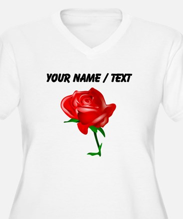 Custom Red Rose Plus Size T-Shirt