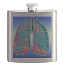 Computer artwork of healthy human lungs Flask