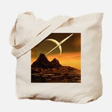 Computer artwork of Titan's surface and S Tote Bag