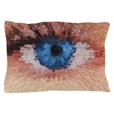 Computer graphic 3-D block image of a  Pillow Case