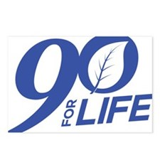 90 FOR LIFE - BLUE Postcards (Package of 8)