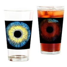 Computer-enhanced blue/yellow iris  Drinking Glass