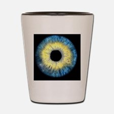 Computer-enhanced blue/yellow iris of t Shot Glass