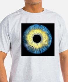 Computer-enhanced blue/yellow iris o T-Shirt