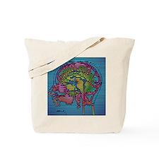 Computer-enhanced MRI brain scan (side vi Tote Bag