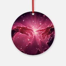 Conceptual artwork of a star birth  Round Ornament
