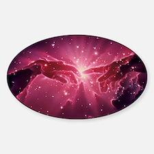 Conceptual artwork of a star birth  Sticker (Oval)